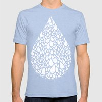 tear drop Mens Fitted Tee Tri-Blue SMALL