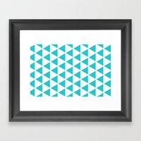 Sleyer Blue On White Pat… Framed Art Print