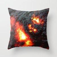 Flaming Seashell 4 Throw Pillow