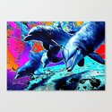 Dolphins 3 Canvas Print
