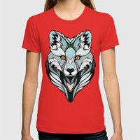 Little Polar Fox Womens Fitted Tee Red SMALL