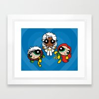 Chemical X-Girls Framed Art Print
