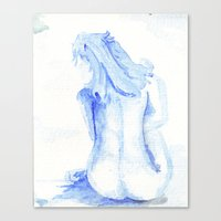 Little Blue Nude Canvas Print