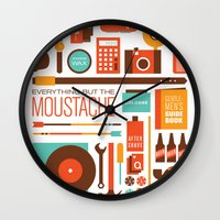 Everything But The Moustache Wall Clock