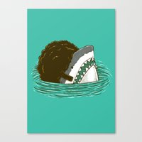 The 70's Shark Canvas Print