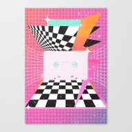 Canvas Print featuring Cassette (feat. Marta Ma… by Danny Ivan
