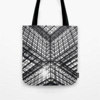 Metal And Glass Tote Bag