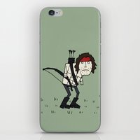 Sad John Rambo In A Field iPhone & iPod Skin