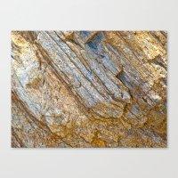 Stunning rock layers Canvas Print