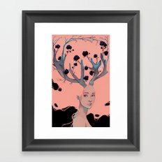 Lady Cornue. Framed Art Print