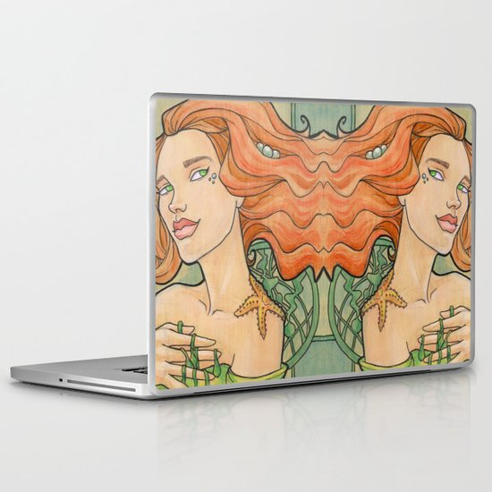 Tattooed Mermaid 11 Laptop & iPad Skin