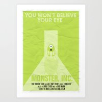 MONSTER INC. Art Print