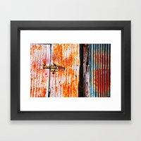 Abstract Rusty Garage Do… Framed Art Print