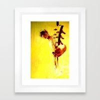 my son is a guitar god Framed Art Print