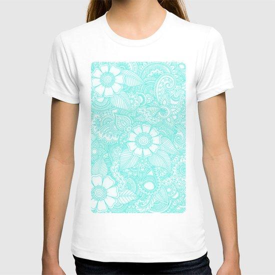 Henna Design - Aqua T-shirt