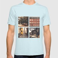 Madrid's Lines Mens Fitted Tee Light Blue SMALL