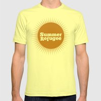 Summer Refugee Mens Fitted Tee Lemon SMALL