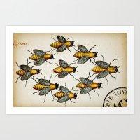 Medieval Swarm Art Print