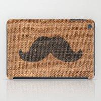 Black Funny Mustache On … iPad Case