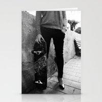 SkateBoard Girl Stationery Cards