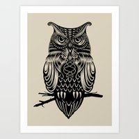 Owl of Cairo Art Print