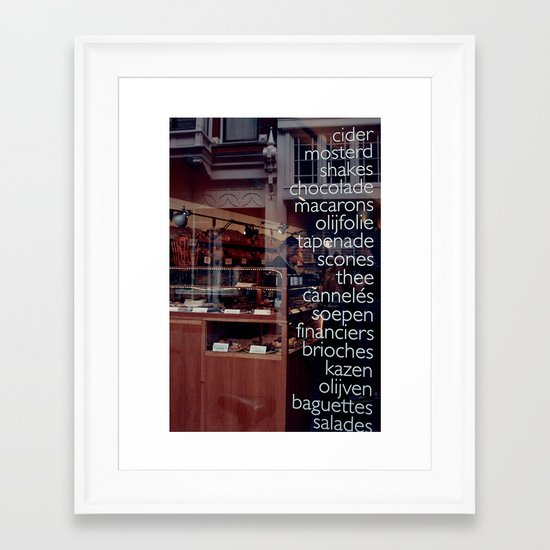 At the bakers Framed Art Print