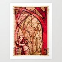 As You Like It - Shakespeare Romance Folio Illustration Art Print