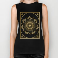 Peace Lotus Biker Tank