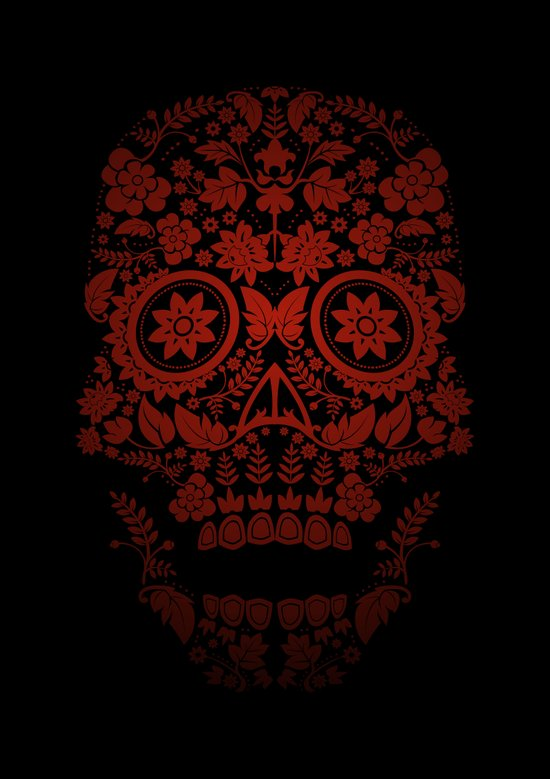 Day of the Dead Skull No.21 Canvas Print