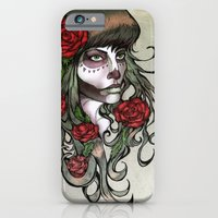 iPhone & iPod Case featuring Day of the Dead Girl by Alex Kujawa