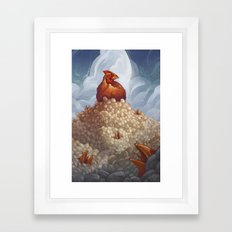 Lay More, Squawk Less Framed Art Print