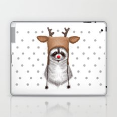 raccoon in deer hat Laptop & iPad Skin