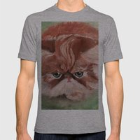 Grumpy Persian Mens Fitted Tee Athletic Grey SMALL