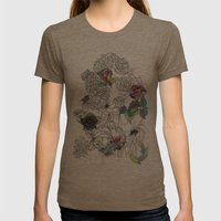 English Garden Womens Fitted Tee Tri-Coffee SMALL