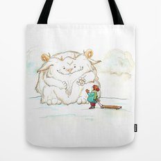 A Friendly Snow Monster Tote Bag