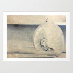 Seashell Genie Art Print