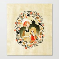 Sweet Porridge: Mother and Daughter Canvas Print