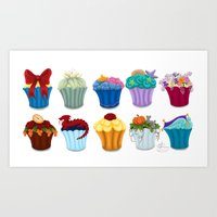 The Princess Cupcake Collection  Art Print