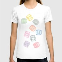 Cubes  Womens Fitted Tee White SMALL