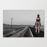 All Dressed Up With No P… Canvas Print