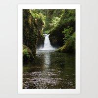 Punchbowl Falls. Art Print