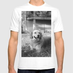 Buddy SMALL Mens Fitted Tee White
