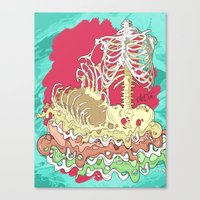 Flesh Illustration Canvas Print