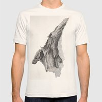 Fallen Tree Mens Fitted Tee Natural SMALL