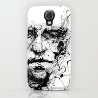 Galaxy S4 Cases featuring lines hold the memories by agnes-cecile