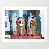 Flieger 2 Collage Art Print