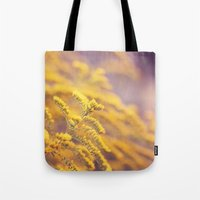Golden Yellow and Lilac Tote Bag