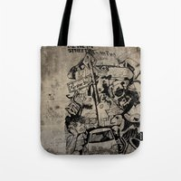 Berlin Street Art Concre… Tote Bag