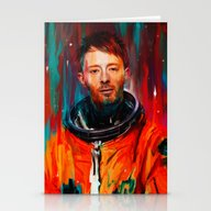 Stationery Cards featuring Thom Yorke by Nicebleed