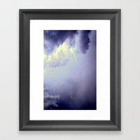 LIGHTNING STRIKES TWICE Framed Art Print